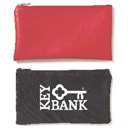 10 oz Cotton Custom Zippered Bank Bags