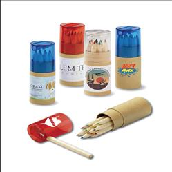 12-color tube pencil set with sharpener customized