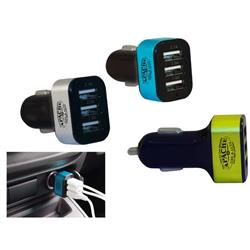 3 Port USB Car Charger Custom