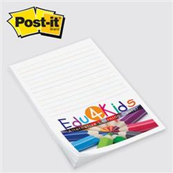 "Post-it® Custom Printed Notes Value Priced 4"" x 6"" 25 Sheets"