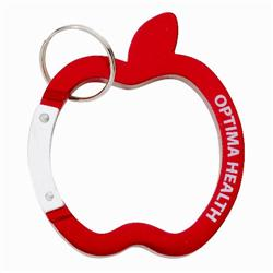 Apple Carabiner Keychain Promotional Item