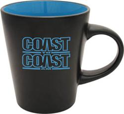 Black blue ceramic mug