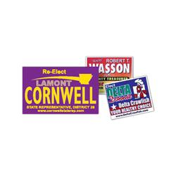 "Campaign Poster Lawn Signs 14"" x 22"""