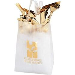 Clear Frosted  Plastic Shopping Bags 8 x 4 x 11