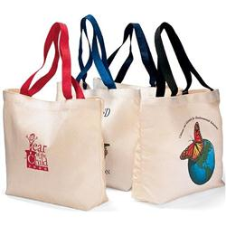 Colored Handled Canvas Tote Bags