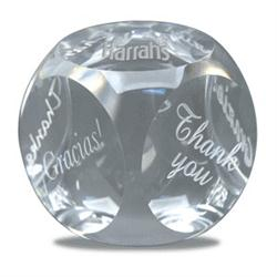 Crystal Thank You Paperweights