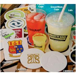 "Custom Paper Coasters - 3.5"" 40 pt Round or Square"