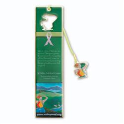 Dangle Bookmark with Etched Enamel
