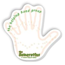 Die Cut SpiderTac Sticky Notes Hand Shape 25 Sheets