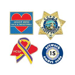 "Die Struck 1"" Soft Enamel Lapel Pins"