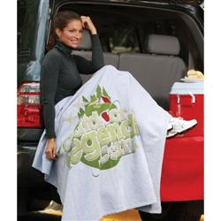 Embroidered Custom Sweatshirt Blankets