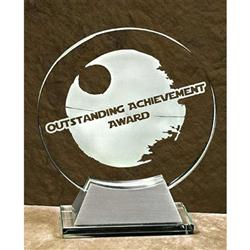 Engraved Glass Circle Award