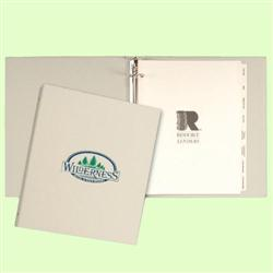 "Full Wrap Ring Binder with 1/2"" Ring and custom imprint"