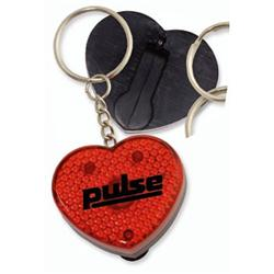 Heart Flashing Light Key Tags