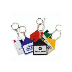 House Tape Measures with Release Button and Key Chain
