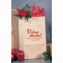 Kraft Paper Shopping Wine Bags  8 x 4 3/4 x 13 5/8