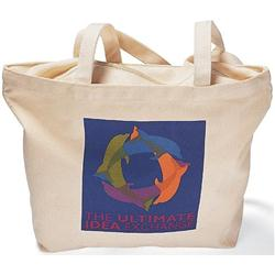 Large Canvas Zippered Tote Bags