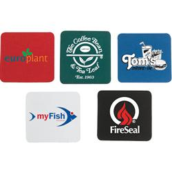 Neoprene Promotional Coasters with Rubber Backing