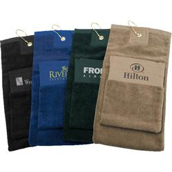 Pocket Golf Towel with Custom Imprint - 8 x 26
