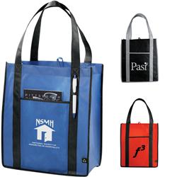 PolyPro Contrast Carry-All Grocery & Convention Tote Bags