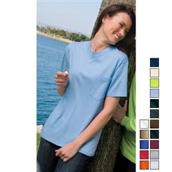 Port and Company 100% Cotton Screened T-Shirts with Pocket