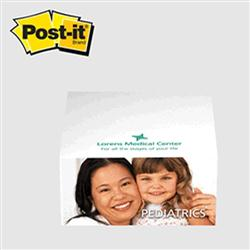 "Post-it® Custom Printed Notes Half-Cube 3-3/8"" x 3-3/8"" x 1-3/4"""