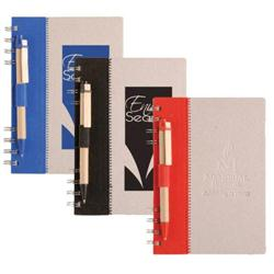Recycled Terra Notebook & Pen Combo - eco friendly promotional notebooks