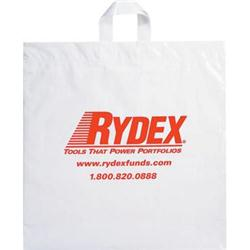 Soft Loop Handle Custom Plastic Bags 18x18x4 White