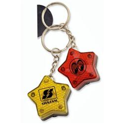 Star Flashing Light Key Tags