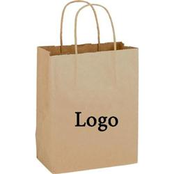 Twisted Paper handle Shoppers 8 x 4 1/2 x 10 1/2