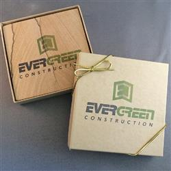 Absorbent Natural Sandstone Custom Coaster Gift Set with Gift Box
