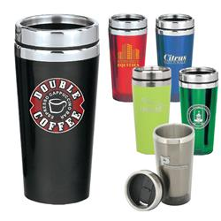 16oz Classic Travel Tumblers with acrylic outside and a stainless steel liner