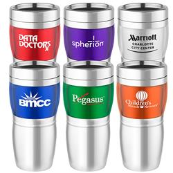 16 oz Acrylic Wave Travel Mug and Tumbler - Stainless Steel Liner