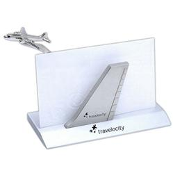 Airplane desk business card holders aviation promotional for Airplane business card holder