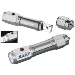 Auto LED Flashlight & Emergency Tool