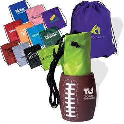 Backpack/ Beer Can Holder Combo - Football shaped