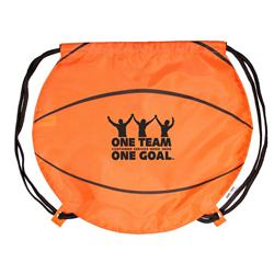 Basketballl Drawstring Backpacks & Cinch Bags