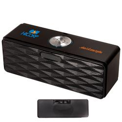 Bluetooth speaker and fm radio mini boom with custom logo