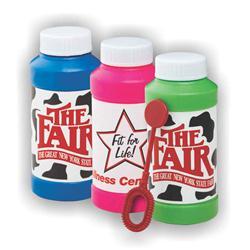 4 oz Promotional Bubbles with Full Color Labels, Custom Bubble Bottle