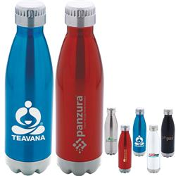 Camper Stainless Steel Sport Bottle - vacuum sealed in swell colors