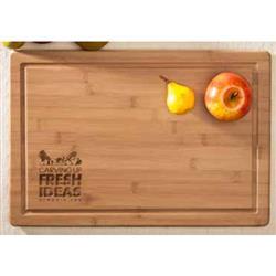 "Custom Carving Board in Bamboo - a large cutting board 12"" x 18"" x 3/4"""