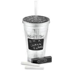Chalkboard Back to School Tumbler with straw