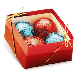 Chocolate Ornaments - Red Gift Box