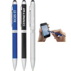 Colonnade Dual Ballpoint Stylus Pens Laser Engraved or Custom Printed