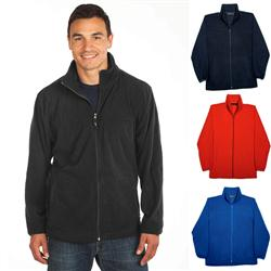 Custom fleece jacket with logo, Hayden fleece jackets by Adco Marketing