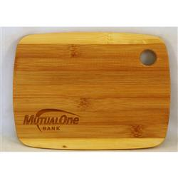 Custom Cutting Board in Bamboo Laser Engraved with handle - small size
