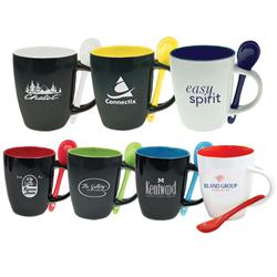Bistro Mugs Custom Imprinted with Spoons