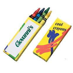 Custom Crayons - 4 Pack with Logo