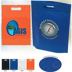 Large Die Cut Non Woven Custom Bags, Recycled, Recyclable