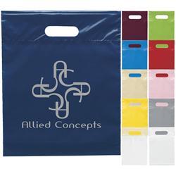 Die Cut Custom Plastic Bags 12x15x3